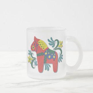 Colorful Swedish Dala Horse Coffee Mug