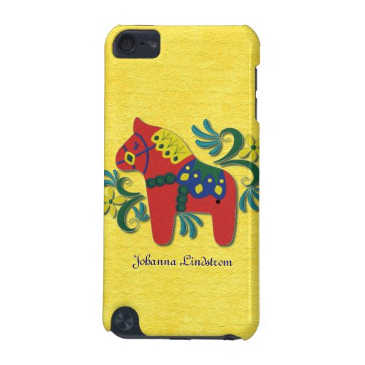 Colorful Swedish Dala Horse Personalized iPod Touch (5th Generation) Case