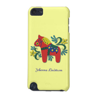 Colorful Swedish Dala Horse Personalized Name iPod Touch 5G Cases