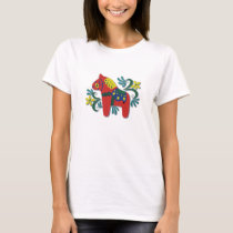Colorful Swedish Dala Horse T-Shirt