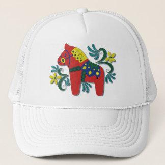 Colorful Swedish Dala Horse Trucker Hat
