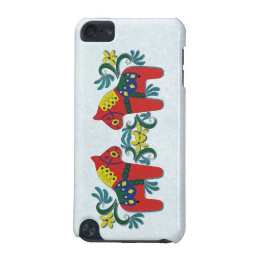 Colorful Swedish Dala Horse Twins iPod Touch (5th Generation) Cover