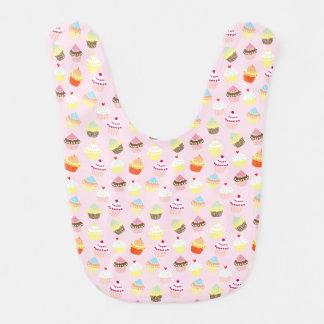 Colorful Sweet Cupcakes Pattern Baby Bib