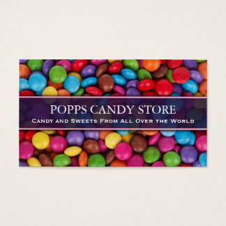 Colorful Sweets and Candy - Business Card