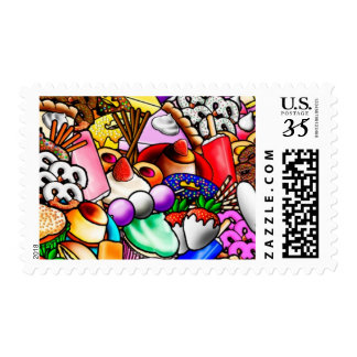 Colorful Sweets and Treats Stamps