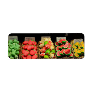 Colorful sweets label