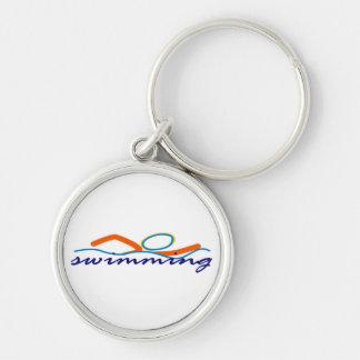Colorful Swim Symbol Keychain