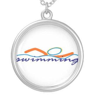 Colorful Swim Symbol Pendant