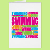 Colorful Swimming Card