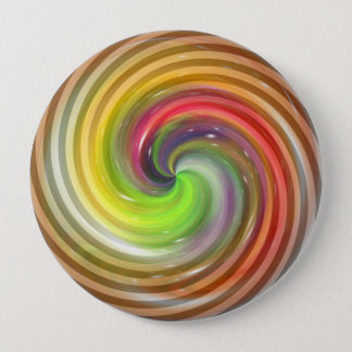 Colorful Swirl Abstract Art 2 Pinback Button