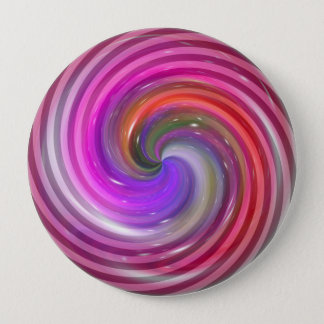 Colorful Swirl Abstract Art Pinback Button