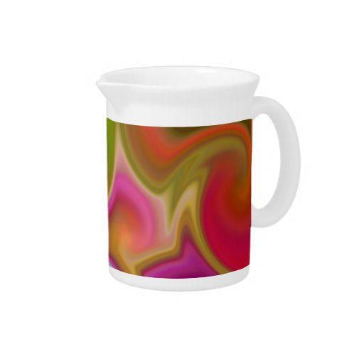 Colorful Swirl Abstract Beverage Pitchers
