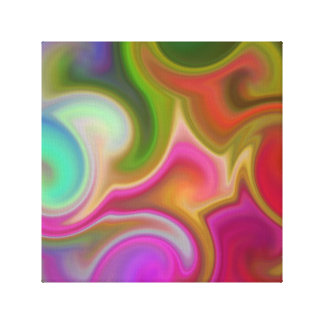 Colorful Swirl Abstract. Canvas Print