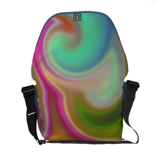 Colorful Swirl Abstract Courier Bag