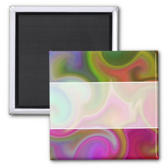 Colorful Swirl Abstract Magnet
