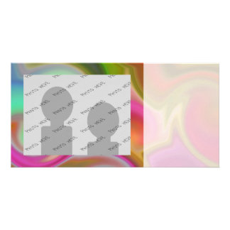 Colorful Swirl Abstract Photo Card Template