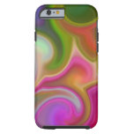 Colorful Swirl Abstract Tough iPhone 6 Case