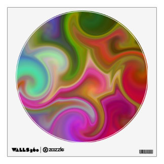 Colorful Swirl Abstract. Wall Decal