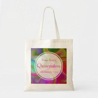 Colorful Swirl Design Quinceanera. Tote Bag