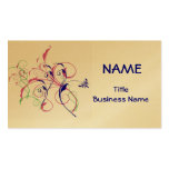 Colorful Swirl Designed Business Cards