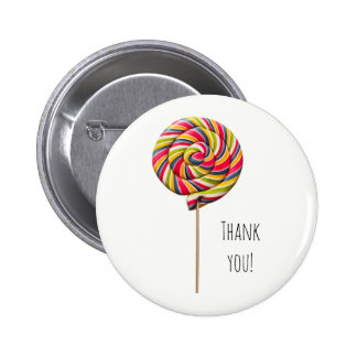 Colorful Swirl Lollipop Button