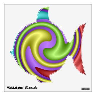 Colorful Swirl Pattern Fish wall Decal