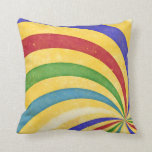 Colorful swirl pillow