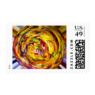 Colorful Swirl Postage