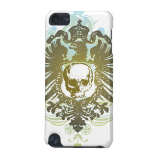 Colorful swirl skull crest awesome ipod touch case