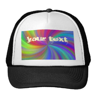 colorful swirl trucker hat