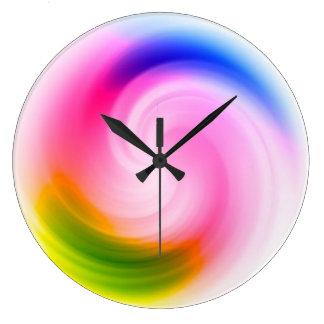 Colorful Swirl - Wall Clock