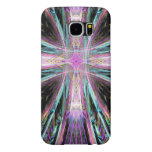 Colorful Swirling Cross of Christ Abstract Samsung Galaxy S6 Cases