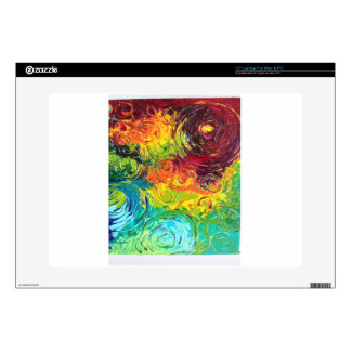 "Colorful Swirls 15"" Laptop Skins"
