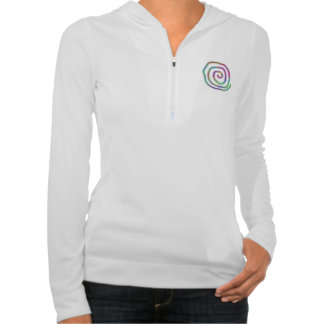 Colorful Swirls and Template Text Hoodie