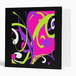 Colorful Swirls Binder