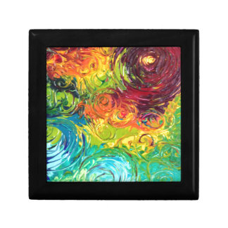 Colorful Swirls Jewelry Box