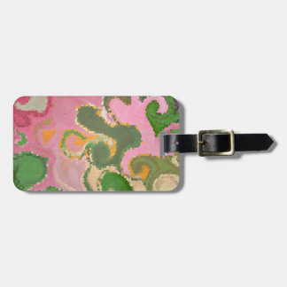"""COLORFUL SWIRLS'  /PINKS, GREENS, AND GOLDS LUGGAGE TAG"