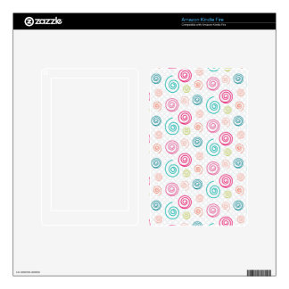 Colorful Swirls Skins For Kindle Fire
