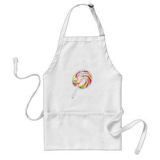colorful swirly lollipop adult apron