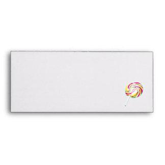 colorful swirly lollipop envelope