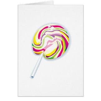 colorful swirly lollipop greeting card