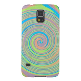 Colorful swirly pinwheel design galaxy s5 case