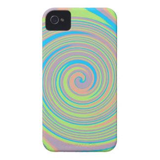 Colorful swirly pinwheel design iPhone 4 Case-Mate case