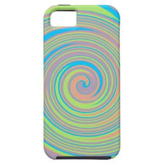 Colorful swirly pinwheel design iPhone SE/5/5s case