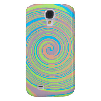Colorful swirly pinwheel design samsung galaxy s4 case