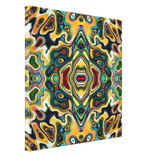 Colorful Symmetric Abstract Gallery Wrapped Canvas