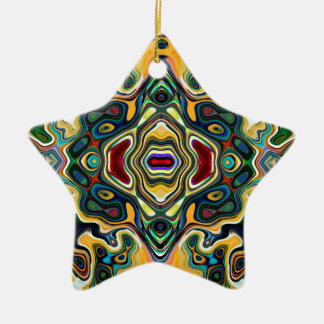 Colorful Symmetric Abstract Ceramic Ornament