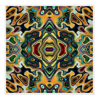 Colorful Symmetric Abstract Poster