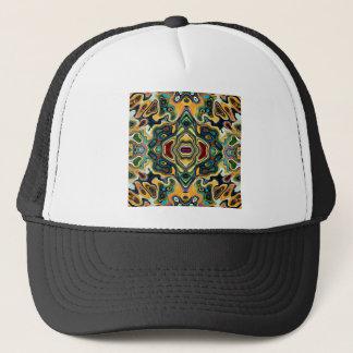 Colorful Symmetric Abstract Trucker Hat