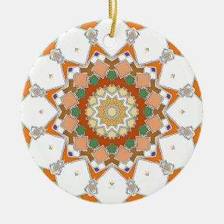 Colorful Symmetrical Star Ceramic Ornament